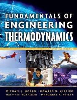 Fundamentals of Engineering Thermodynamics – Moran & Shapiro – 7th Edition