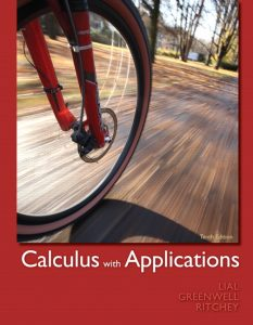 Calculus with Applications – Lial, Greenwell, Ritchey – 10th Edition