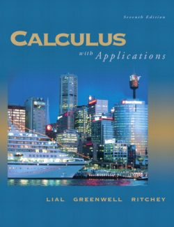 Calculus with Applications – Lial, Greenwell, Ritchey – 7th Edition