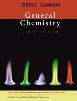 General Chemistry – Darrell D. Ebbing, Steven D. Gammon – 9th Edition