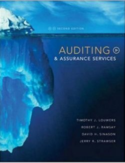 Auditing & Assurance Services - Timothy Louwers - 2nd Edition 20