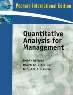 Quantitative Analysis for Management – Barry Render – 10th Edition