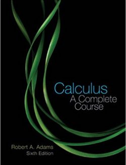 Calculus: A Complete Course – Robert A. Adams – 6th Edition