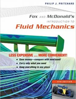 Introduction to Mechanical of Fluids – Fox and McDonald's – 8th Edition
