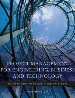 Project Management for Engineering – J. Nicholas – 4th Edition