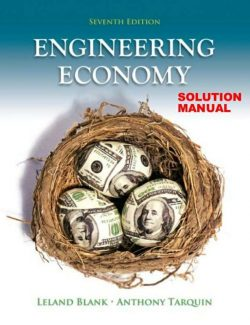 Engineering Economy – Leland Blank, Anthony Tarquin – 7th Edition