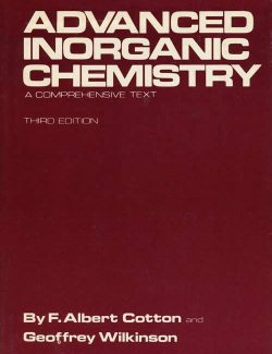 Advanced Inorganic Chemistry – Cotton & Wilkinson – 3rd Edition