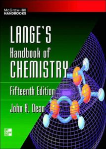 Lange's Handbook of Chemistry – John A. Dean – 15th Edition