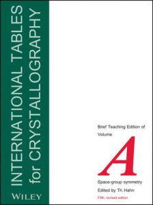 International Tables For Crystallography Vol. A – Space Group Symmetry – 5th Edition