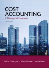 Cost Accounting: A Managerial Emphasis – Charles T. Horngren – 14th Edition 73