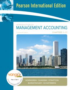 Introduction to Management Accounting – Charles T. Horngren – 14th Edition