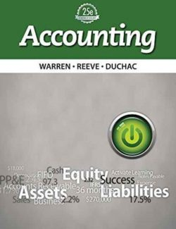 Accounting – Carl S. Warren, James M. Reeve, Jonathan Duchac – 25th Edition