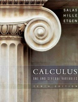 Calculus One and Several Variables – Salas, Hille, Etgen – 10th Edition