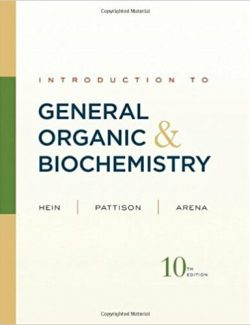 Introduction to General, Organic, and Biochemistry – Hein, Pattison – 10th Edition
