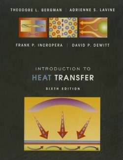 Introduction to Heat Transfer – Frank P. Incropera – 6th Edition
