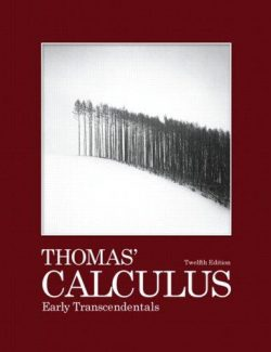 Calculus Early Transcendentals – George B. Thomas' – 12th Edition