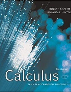 Calculus Early Transcendental Functions – R. Smith, R. Minton – 3rd Edition