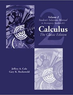Calculus. The Classic Edition Vol.2 – Earl W. Swokowski, Jeffery A. Cole – 1st Edition