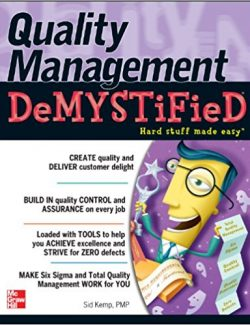 Quality Management Demystified; A Self Teaching Guide - Sid Kemp (McGraw-Hill) - 1st Edition 27