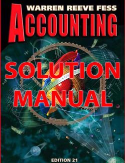 Accounting – Carl S. Warren, James M. Reeve – 21th Edition