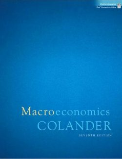 Macroeconomics – David Colander – 7th Edition