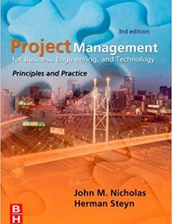 Project Management for Engineering, Business and Technology – J. Nicholas – 3rd Edition