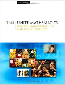 Finite Mathematics for the Managerial, Life, and Social Sciences - Soo T. Tan - 9th Edition 26