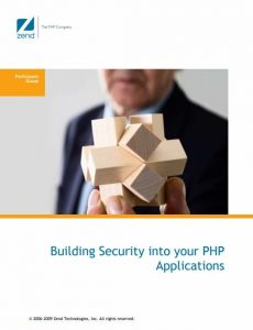 Building Security in your PHP Applications – Zend Technologies – 1st Edition
