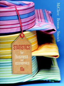 Statistics for Business and Economics – James T. McClave, P. George Benson, Terry Sincich – 10th Edition
