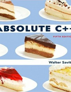 Absolute C++ - Walter Savitch - 5th Edition 24