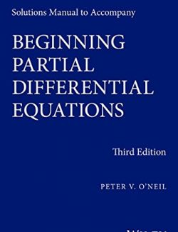 Beginning Partial Differential Equations – Peter O'Neil – 3rd Edition