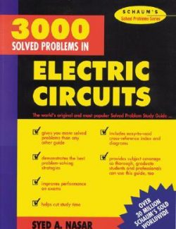 3000 Solved Problems in Electric Circuits: Schaums – Syed A. Nasar – 1st Edition