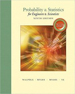 Probability Statistics for Engineers Scientists – Ronald E. Walpole – 9th Edition