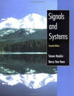 Signals and Systems – Simon S. Haykin, Barry Van Veen – 2nd Edition