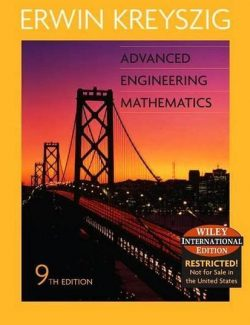 Advaced Engineering Mathematics – Erwin Kreyszig – 9th Edition