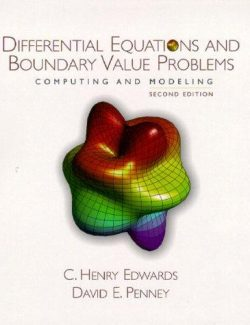 Differential Equations and Boundary Value Problems – Edwards & Penney – 2nd Edition
