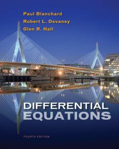 Differential Equations – Blanchard, Devaney, Hall – 4th Edition
