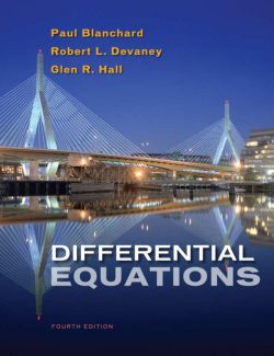 Differential Equations - Blanchard, Devaney, Hall - 4th Edition 20