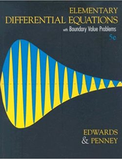 Elementary Differential Equations with Boundary Value Problems - Edwards, Penney - 5th Edition 24