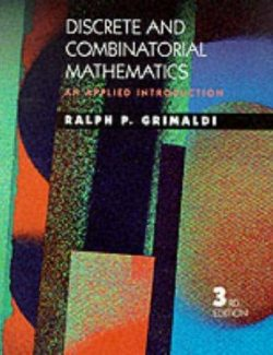 Discrete and Combinatorial Mathematics: An Applied Introduction – Ralph P. Grimaldi – 3rd Edition