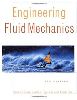 Engineering Fluid Mechanics – Clayton T. Crowe – 7th Edition