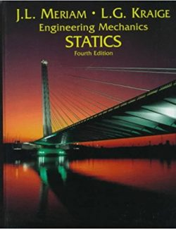 Engineering Mechanics Statics – J. L. Meriam, L. G. Kraige – 4th Edition