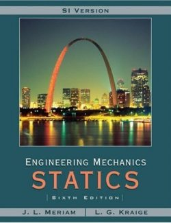 Meriam Engineering Mechanics: Statics - J. L. Meriam, L. G. Kraige - 6th Edition 24