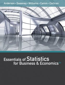 Statistics for Business and Economics – David R. Anderson – 8th Edition