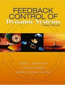 Feedback Control Dynamic Systems – Franklin, Powell, Emami-Naeini – 4th Edition
