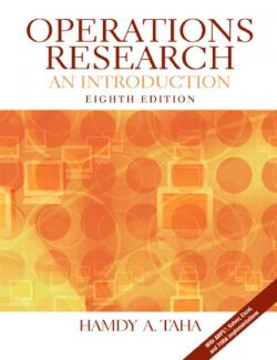 Operations Research an Introduction – Hamdy A. Taha – 8th Edition