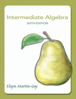 Intermediate Algebra - Martin-Gay - 6th Edition 22