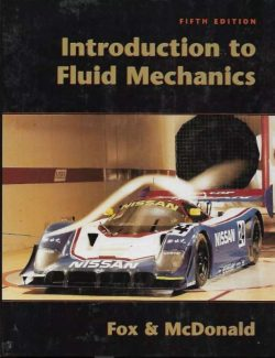 Introduction to Fluid Mechanics – Fox and McDonald's – 5th Edition