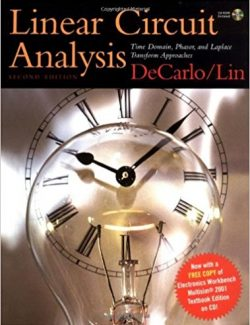 Linear Circuit Analysis: Time Domain and Phasor Approach - Raymond A. DeCarlo, Pen-Min Lin - 2nd Edition 24