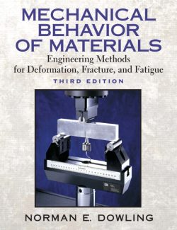 Mechanical Behavior of Materials – Norman E. Dowling – 3rd Edition